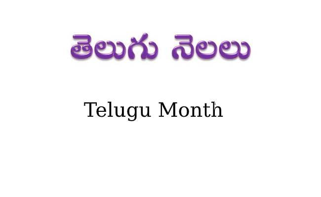 Telugu Months | తెలుగు నెలలు