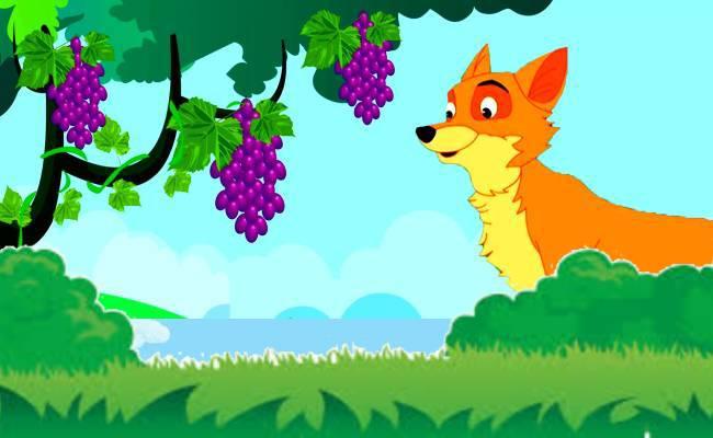 నక్క అందని ద్రాక్ష కథ   Fox and Sour Grapes Story