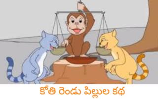 కోతి రెండు పిల్లుల రొట్టె | Cats and Monkey Story